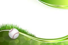 Background abstract green baseball ball illustration Stock Photography