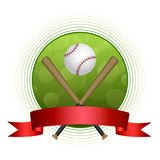 Background abstract green baseball sport ball circle red tape frame illustration Royalty Free Stock Photos