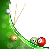 Background abstract green billiard pool cue ball illustration stock illustration