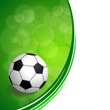 Background abstract green football soccer ball frame illustration Stock Photos