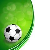 Background abstract green football soccer ball frame illustration Stock Photos