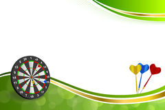 Background abstract green gold darts board frame illustration Stock Photos