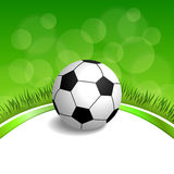 Background abstract green grass football soccer ball frame illustration Stock Image