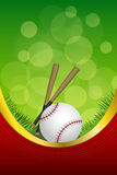 Background abstract green red sport white baseball ball club frame vertical gold ribbon illustration Stock Image