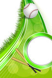 Background abstract green sport white baseball white ball frame vertical ribbon illustration Royalty Free Stock Photography