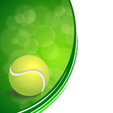 Background abstract green sport white tennis yellow ball frame illustration Stock Images