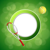 Background abstract green tennis sport yellow ball circle frame illustration Stock Photography
