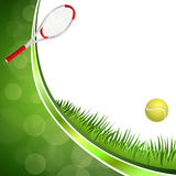 Background abstract green tennis sport yellow ball ribbon circle frame illustration Stock Images