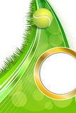 Background abstract green tennis sport yellow ball vertical gold circle frame illustration Stock Photos