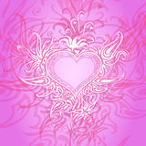 Background with abstract heart Stock Image