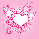 Background with abstract heart. Stock Image