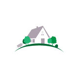 Background abstract.  House abstract real estate countryside logo design template. Realty theme icon. Building vector silhouette. Background. House abstract Royalty Free Stock Image