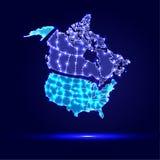 Background Abstract Illustration Icon Canada, USA Stock Photos