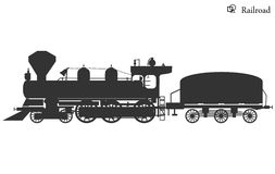 Background abstract illustration locomotive veсtor Stock Images