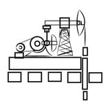 Background abstract illustration oil derrick, types of oil, statistics icon Royalty Free Stock Photography