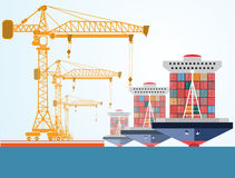 Background abstract illustration oil derrick, types of oil, statistics icon Stock Images