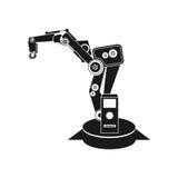 Background abstract illustration robotics, robot hand Stock Photo