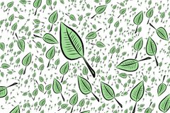 Background abstract leaves drawing pattern for design. Decoration, white, vector & digital. Background abstract leaves drawing pattern for design. No Royalty Free Stock Photos