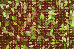 Background abstract leaves drawing pattern for design. Nature, color, style & texture. Background abstract leaves drawing pattern for design. Style of mosaic or Royalty Free Stock Photos