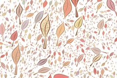 Background abstract leaves drawing pattern for design. Canvas, overlap, green & web. Background abstract leaves drawing pattern for design. No overlapping Royalty Free Stock Photos