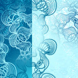 Background with  abstract marine lace in blue Stock Photo