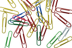 Background from abstract office paper clips Stock Image