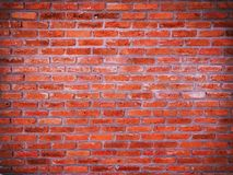 Background of abstract old grunge red brick wall pattern texture Stock Photography