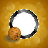 Background abstract orange black basketball ball circle frame illustration Royalty Free Stock Photos