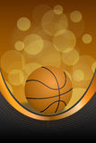 Background abstract orange black sport basketball ball frame vertical gold ribbon illustration Stock Photos
