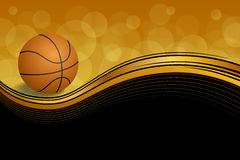 Background abstract orange black sport basketball ball illustration vector Royalty Free Stock Photo
