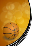 Background abstract orange black sport basketball ball illustration Royalty Free Stock Photos