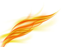 Background with abstract orange fire flashes on white Royalty Free Stock Photography