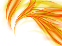 Background with abstract orange fire lines on white Royalty Free Stock Images