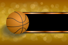 Background abstract orange sport black basketball ball strips frame illustration Royalty Free Stock Images