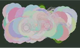 Background abstract oval & mixed pattern for design. Shape, backdrop, web, creative & circles. Background abstract oval & mixed pattern for design. Vector Stock Photography