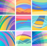 Background abstract pastel design set Royalty Free Stock Photo