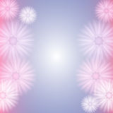 Background with Abstract Pastel Flowers Stock Photo