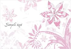 Background with abstract pattern. Vector drawing of the abstract background with flowers and leaves Royalty Free Stock Image