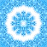 Background with abstract pattern. Bright blue background with abstract radial pattern Royalty Free Stock Photography