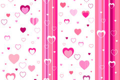 Background abstract pattern seamless  pink heart Royalty Free Stock Photo