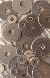 Background abstract pattern of washers Royalty Free Stock Images