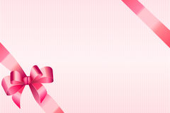 Background abstract pink strips pattern with bow Stock Images