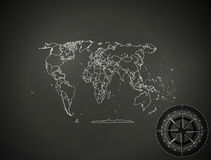 Background abstract political map of the world icon engineering. Political map of the world background royalty free illustration
