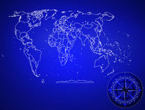 Background abstract political map of the world icon engineering. Political map of the world background stock illustration