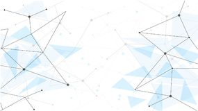 Background abstract polygon data technology communication vector design illustration.  Royalty Free Stock Photos