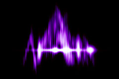 Background - Abstract Purple Light Wave Stock Photography