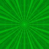 Background abstract radial, green Royalty Free Stock Images