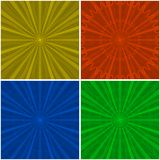 Background abstract radial, set Stock Photos