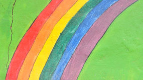 Background of abstract rainbow painted wall Stock Photography
