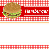 Background abstract red hamburger yellow frame illustration Royalty Free Stock Photo